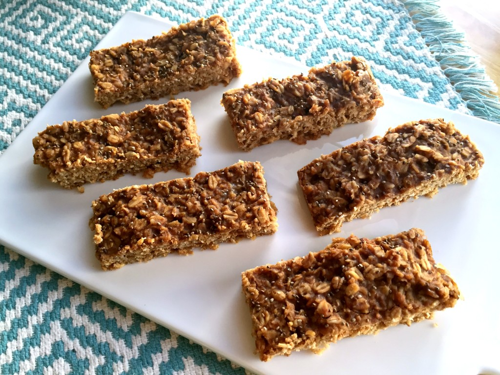 Soft and Chewy Peanut Butter Banana Oat  Bars