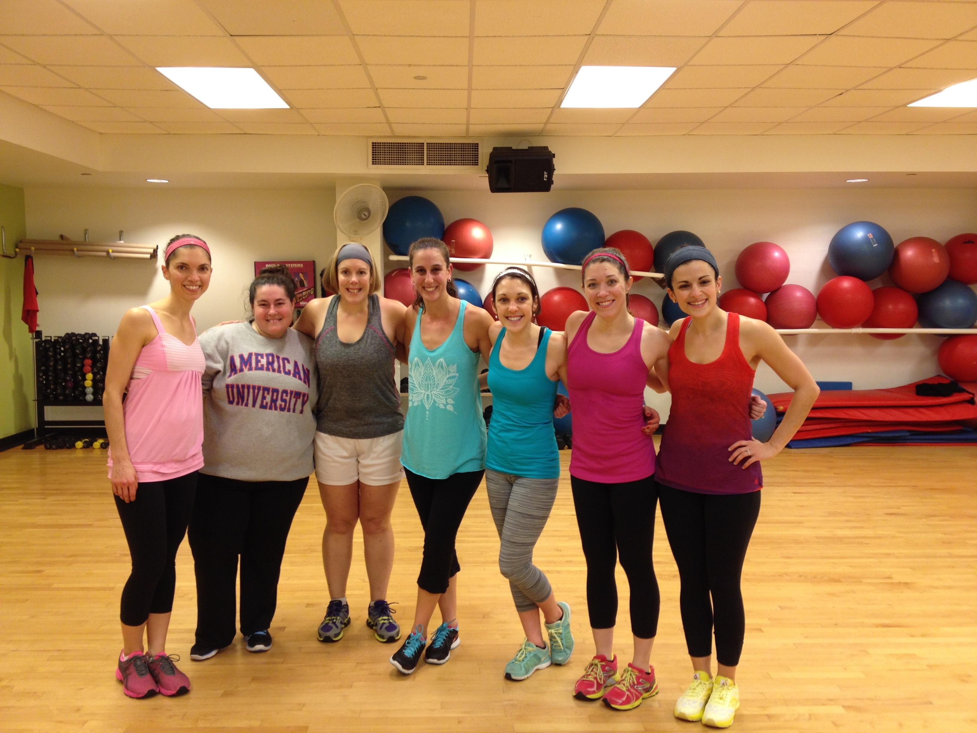 Liz's last kickboxing class