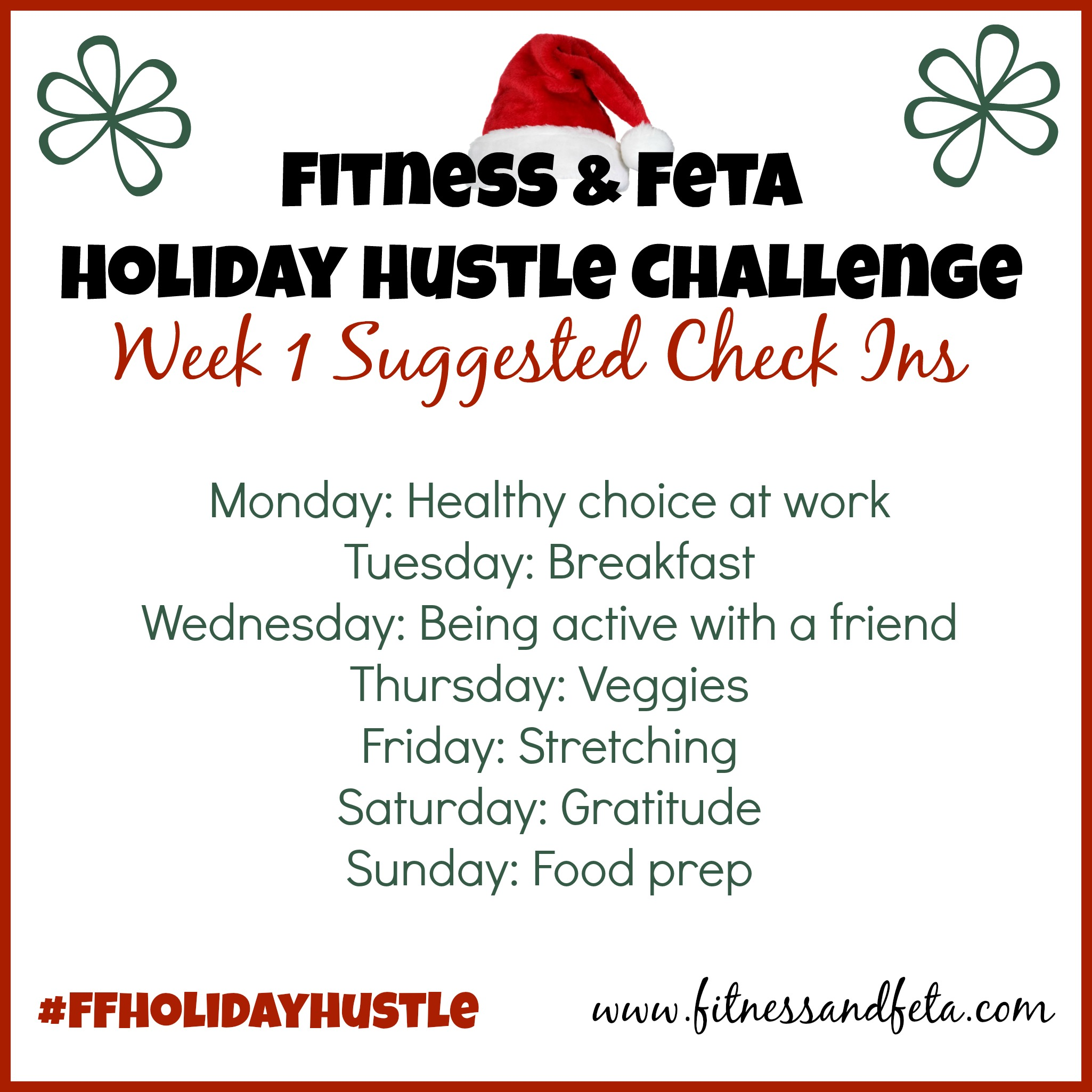 Holiday Hustle Check Ins