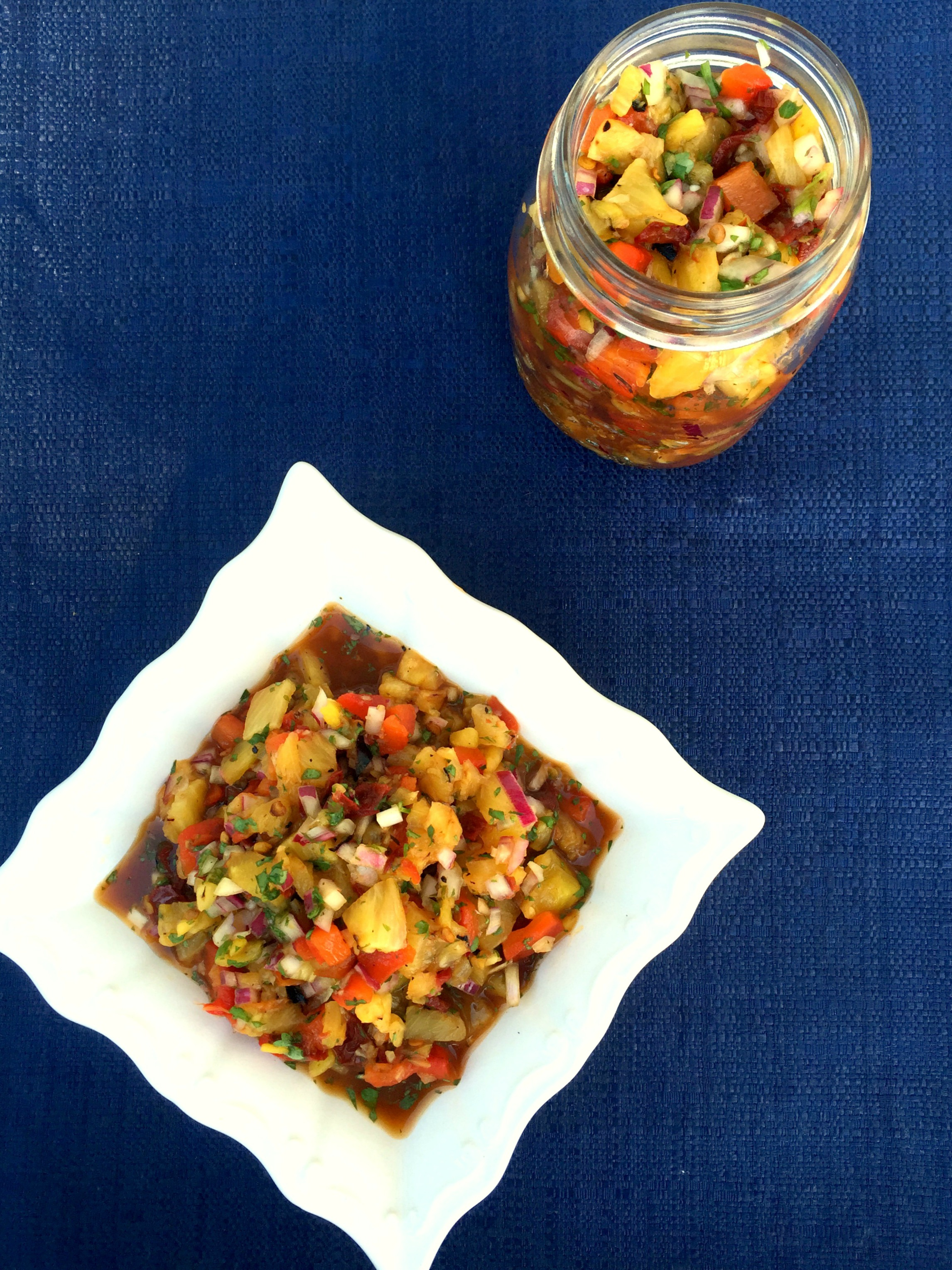 Grilled Pineapple Chipotle Salsa | Achieve with Athena