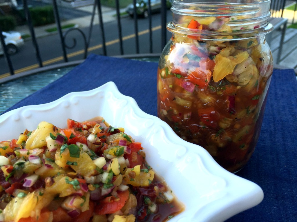 Grilled Pineapple Chipotle Salsa