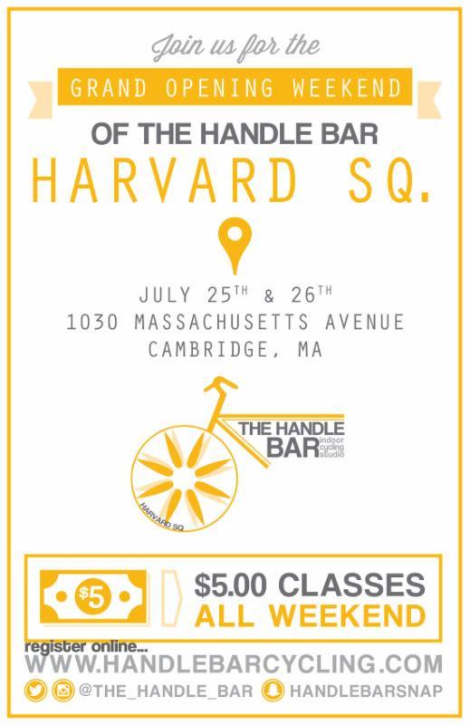 The Handle Bar Harvard Square Grand Opening Ride