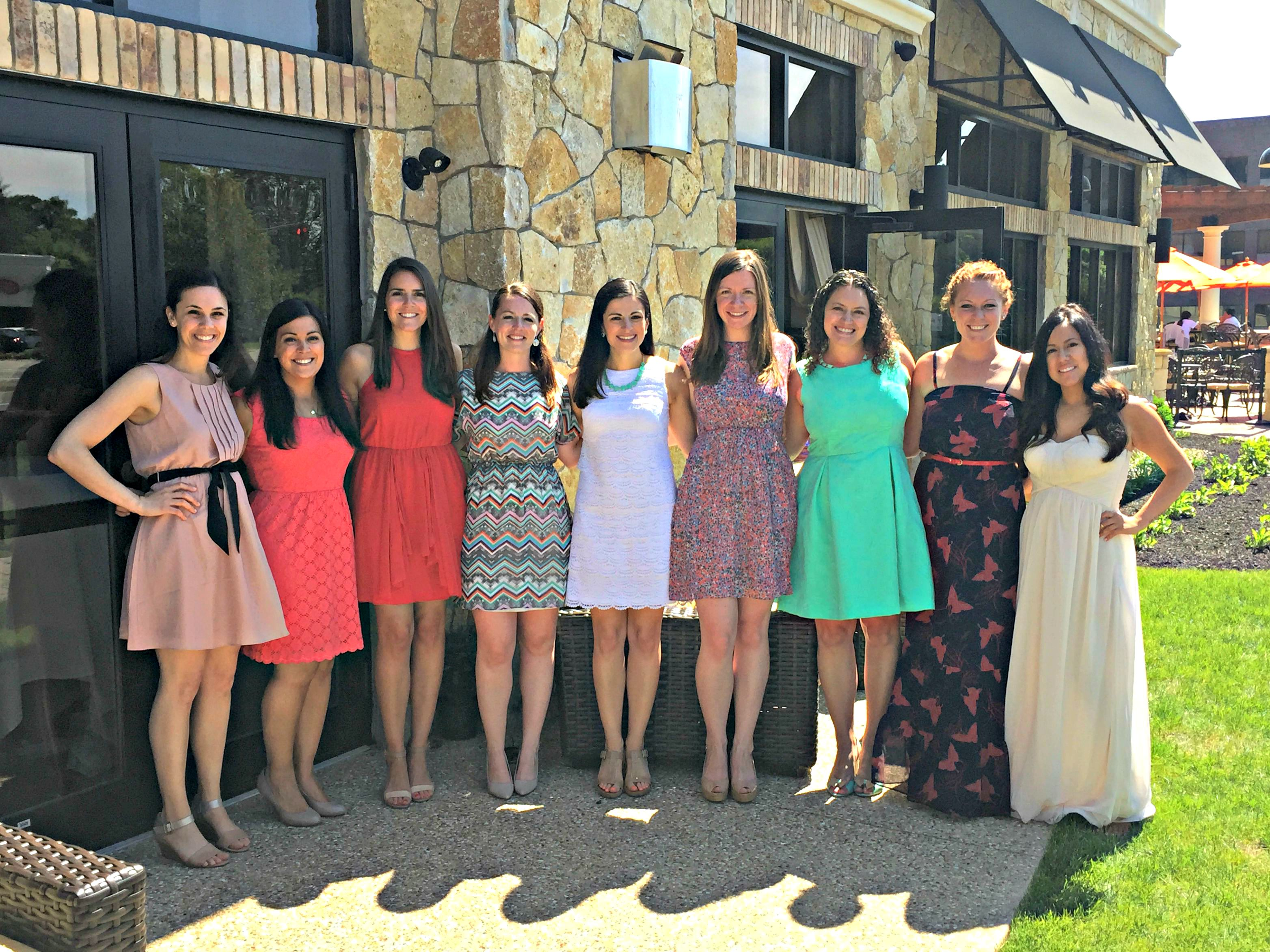 my bridal shower bridesmaids