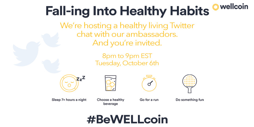 Wellcoin: Oct 6 Twitter party