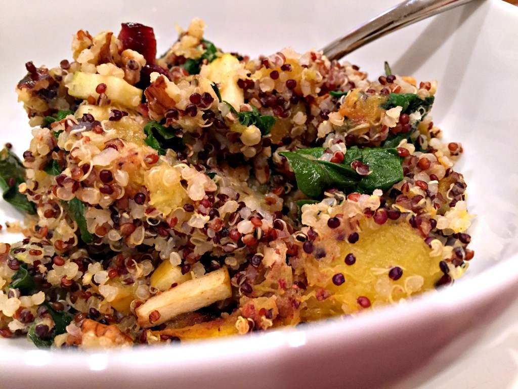 Acorn Squash and Apple Quinoa Bake