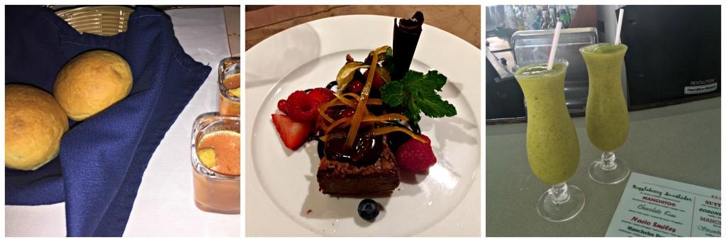 Aruba Honeymoon: Bread, Dessert, Drinks