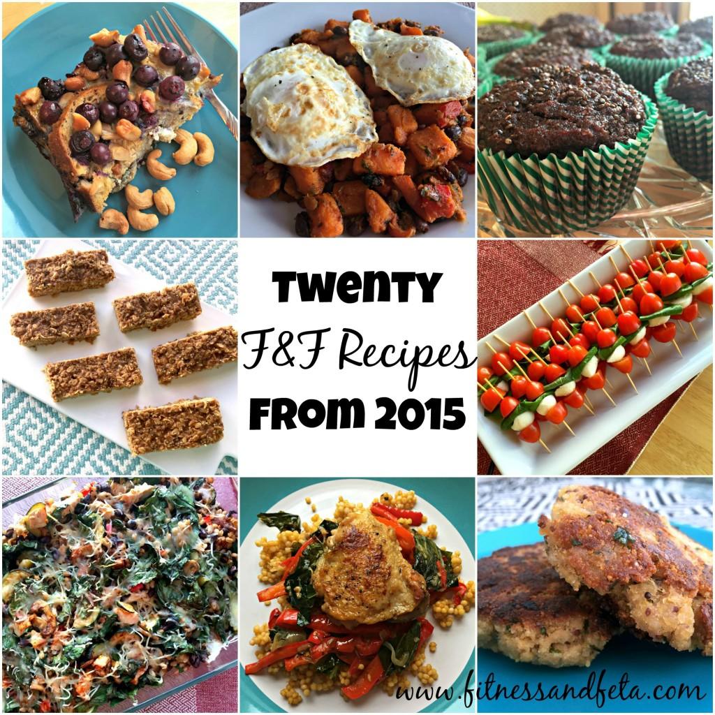 Twenty F&F Recipes from 2015