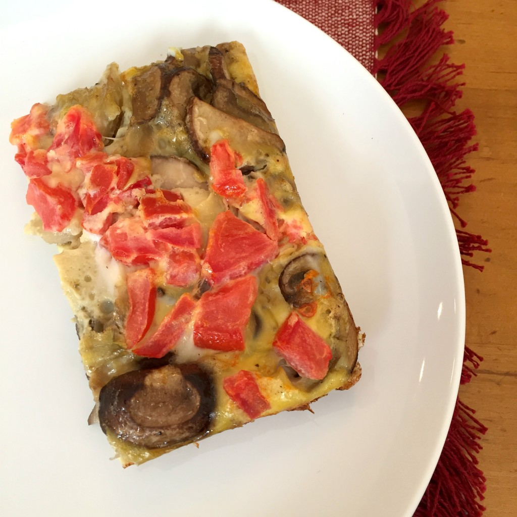 Tomato, Mushroom, and Onion Egg Bake