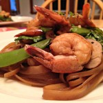 Asian Style Shrimp Stir Fry with Snap Peas and Bok Choy